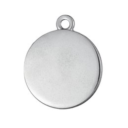 Wholesale Silver Circle Blank Pendant - 50pcs a lot Zinc Alloy Floating Silver Plated Polish Blank Can Engrave Sports Pendant Charms For Gift DIY Jewelry Findings & Component