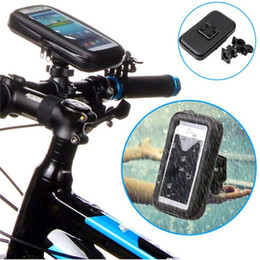 Wholesale Bicycle Bag Holder - Waterproof Case Bike mount Motorcycle Bicycle Holder with Mobile Phone Bag for iPhone 7 6 DHL Free