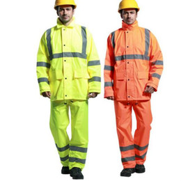 Wholesale Rs 18 - High quality Reflective Safety Raincoat Security Visibility Reflective Vest Reflective Clothing 3M Traffic reflective coat RS-18 breathable