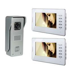 Wholesale Home Video Door Phone - 7 Inch TFT LCD Monitor Color Video Door Phone Wired Doorbell Home Intercom System 1V2 White V70D-M3