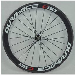 Wholesale Chinese Roads - chinese carbon bicycle wheelset width 23mm 700c oem paint sticker carbon clincher road bike wheel 50mm ceramic hub