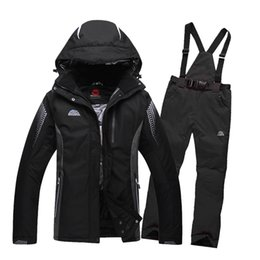 Wholesale Jackets Model Men - Wholesale-Free shipping skiing jacket+pants snow ski suit winter clothing Men and women couple models clothes Snow Thicken board clothes