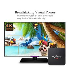 Wholesale Mx2 Android Tv Box - 12pcs Hot MX2 MXQ PRO Quad Core S905X Android 6.0 TV BOX With KD 17.3 TV Box 4K Media Player