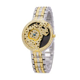 Wholesale Leopard Gold Watch - Leopard Personality Diamond Women Charm Bracelets Popular Silver and Gold Designs Charms Traditional Leopard Charm Watch Ladies Brand Belbi