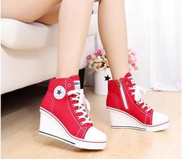 e68077a06 2019 хорошая обувь клинья Хорошие женщины платформа клинья высокий топ 8 см  высота увеличение толстой подошвой