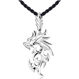 Wholesale Stainless Steel Necklace String - New Style Silver Plated Pendant Crystal Stone Dragon Pendants Fit Necklaces Chain For Men Party Birthday Fashion Jewelry