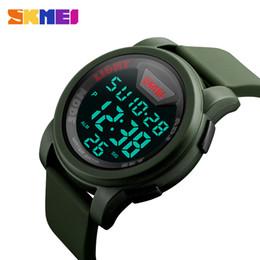 2019 skmei военные часы водонепроницаемые случайные привели SKMEI Марка 1218 светодиодные цифровые часы мужчины военные Водонепроницаемые спортивные часы для мужчин силиконовый ремешок мода простой случайные наручные часы дешево skmei военные часы водонепроницаемые случайные привели