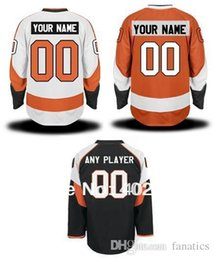 Wholesale Pls Hockey - 2017 Flyers customized   custom hockey jersey, orange, white, black colors, personalized jersey, pls read size chart before order