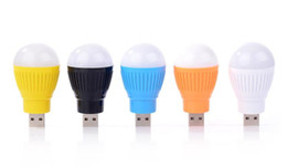 Wholesale Globe Computer - Portable Mini 5W USB Bulb Colorful LED Light Lamp Room Light For Computer Laptop PC Desk Night Reading Searching Hiking Travel Camping