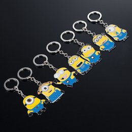 Wholesale Despicable Toy Movie - Cartoon Moive Despicable Me2 Metal Alloy Key Chain Keyring Car Keychains Kid's Toy Birthdays Gift Business Gift