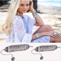 Wholesale Restore Patterned - hot style restoring ancient ways metal carve patterns or designs on woodwork bracelet Punk metal coin exaggerated personality wide bracelet