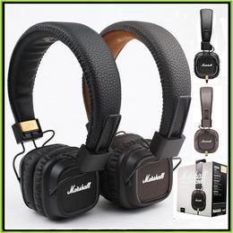 Wholesale Headphone Good Bass - Marshall Major II Headphone Headset With Mic Good Bass DJ Hi-Fi Headphones HiFi Earphones DJ Monitor Headphones VS Wireless studio 2.0