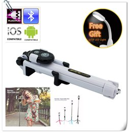 Wholesale Multi Remotes - Wireless bluetooth selfie stick tripod Extendable handheld multi function with build in remote shutter for cell phone iPhone samsung