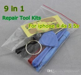 Wholesale Iphone Pentalobe Screws - 9 in 1 REPAIR PRY KIT OPENING TOOLS With 5 Point Star Pentalobe Torx Screw Screwdriver For APPLE Iphone5 5s 6S PLUS iphone 4s JP19