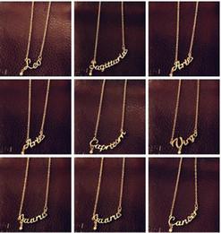 Canada En vente à la mode bijoux 12 pendentif lettre signe zodiac lettre, collier Cavicle, Bélier / Taureau / Gémeaux, avec un matériau en alliage, cheap alloy material jewelry Offre
