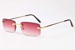 Argentina 2017 verano gafas de sol de las mujeres de deportes gafas de sol de lujo retro para mujer de marca diseñador de moda de conducción gafas de sol sin montura envío gratis supplier rimless retro sunglasses Suministro