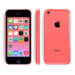 Wholesale Iphone 5c White Front - Original Apple iPhone 5C 16GB Dual Core IOS 8 4.0 inch IPS 8MP 1080P GPS WIFI 3G WCDMA Smartphone Refurbished Unlocked Phone