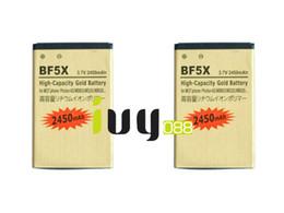 Wholesale Battery Defy - 2pcs lot 2450mAh BF5X Gold Replacement Battery For Motorola Photon 4G MB855 ME525 MB525 Bravo MB520 ME863 XT531 xt883 Defy mini Batteries