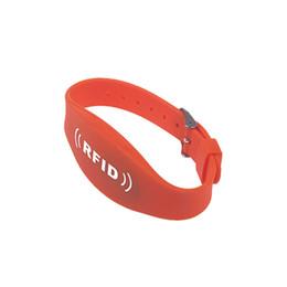 Wholesale Proximity Card Copy - 100pcs Lot 13.56MHz Original MF1K S50 NFC Writable Copy Proximity RFID Wristband Bracele Silicon Plastic Watch For Payment Access Control