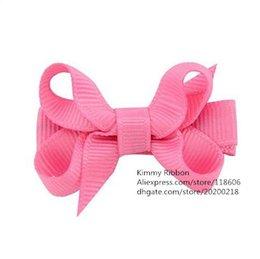 Wholesale Pink Pigtails - 200pcs Hot Pink Mini Boutique Bow - Mini Bow, Mini Boutique Bow, Pigtail Bow, Hot Pink Bow, Baby Bow, Baby Girl Bow