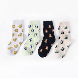 Wholesale Woman Bear Costume - Wholesale-wholesale 60pairs Women Cute Cartoon Little Bear Patterns Cotton Socks Winter Autumn Warm Socking For Casual Sports calcetines