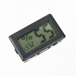 Wholesale Digital Temperature Humidity Thermometer - Wholesale-1pcs Mini Temperature Humidity Meter LCD Digital Thermometer Hygrometer Fridge Freezer Black Stock Offer