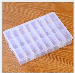 Wholesale Wholesale Storage Products - 8 10 15 18 24 36 Grids Detachable Transparent Home Products Sundries Jewelry Jewellery Storage Organization Container Vase Case Pot Box