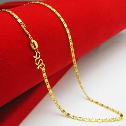 Wholesale 24k Gold Long Necklace Style - For a long time does not fade gold plated necklace style imitation 24K gold imitation gold thin section short chain fashion wedding clavicle