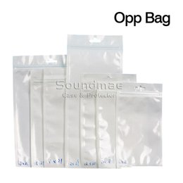 Wholesale Clear of white pearl Plastic Poly OPP packing zipper Zip lock Retail Packages Jewelry food PVC plastic bag cm cm cm