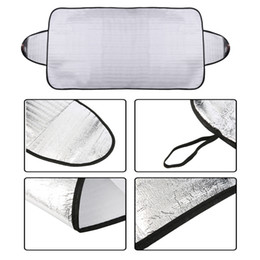 Wholesale Sun Heat - Wholesale-Windscreen Cover Anti Ice Snow Frost Shield Dust Protection Heat Sun Shade Front Car Windshield EMS Free Shipping