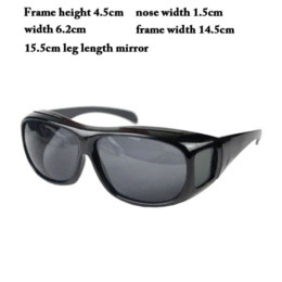 Wholesale Cheap Night Driving Glasses - New Arrival Anti-wind Safey Night Vision Unisex Driving Sunglasses Nice Over Wrap Around Glasses GS-088 Cheap glasses computer
