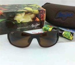 Wholesale Aviator Frame Sunglasses - Brand Designer-2017 Maui Jim Sunglasses 415 sunglasses Polarized lens MJ SPORT men women sunglasses super rimless Aviator driving with case