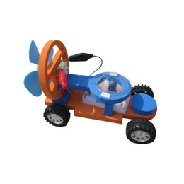 Wholesale Wind Power Build - 1 Set Kids Diy Educational Eraly Learning Science Technology Electric F1 Wind Power Propulsion Racing Experiment Model Kits Toys
