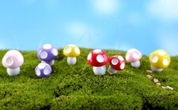 Mini Fungo in resina vegetale per giardino in miniatura da