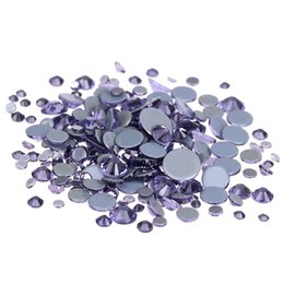Wholesale Strass Crystal Shoes - Tanzanite Crystal Hotfix Rhinestones For Nails ss6-ss30 And Mixed Glue Backing Iron On Strass Diamonds DIY Bags Shoes Backpack
