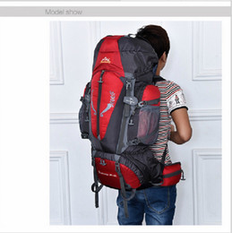 Wholesale Recreational Sports - High Capacity 85L Outdoor Climbing Shoulders Backpack Nylon Waterproof Package Recreational Sports bag