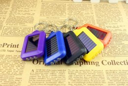 Wholesale 3led Mini Flashlight - Solar environmental protection 3LED mini key lamp multi-function keychain solar flashlight