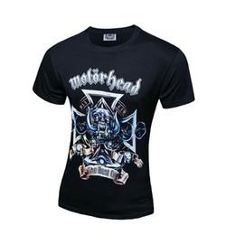Wholesale Band Motorhead - Europen Motorhead Rock Band 3D Printed Round Neck short-sleeve Casual T-shirt Men's Slim Fit T-Shirt T136