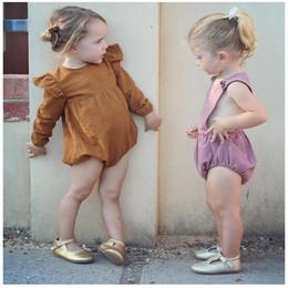 2019 ropa al por mayor de dhl Mamelucos del bebé del otoño Mamelucos de color sólido de manga larga de invierno ropa de niños al por mayor libre de DHL 405 rebajas ropa al por mayor de dhl