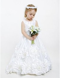 Wholesale Shop Girls Pageant Dresses - 2016Flower Girl Dresses Vintage Taffeta A-line Long Full Length Beautiful Kids Pageant Dress Wholesale On Line Shop For Child Birthday