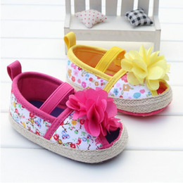 Wholesale Cheap Toddler Flower Girl Shoes - Beautiful flowers baby spring & autumn toddler shoes 2016 new cheap girl soft soled shoes children casual shoes 12pair 24pcs B3