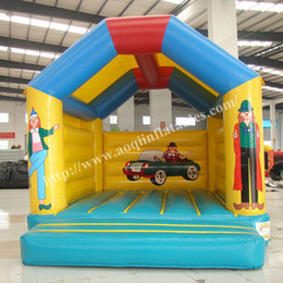 Wholesale Mini Bouncer - AOQI kids inflatable toy trampoline Princess bouncer mini playground inflatable bounce house for children with EN14960 certificate