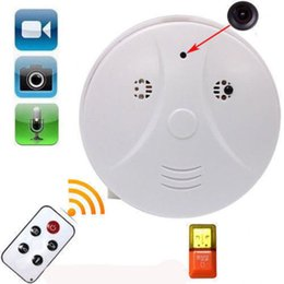 Wholesale Smoke Detector Video Recorder - Home Office Security Mini HD DVR Camera Smoke Detector Motion Detection Video Recorder Cam with Remote Control