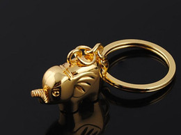 Wholesale Wedding Keychain Favors - NEW Unique Lovers keychain gold silver Big elephant style Wedding Keychain Wedding Favors key Couple keychains k14158