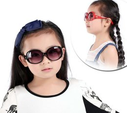 Wholesale Fashion Glasses For Kids - Fashion Kids Child Polarize PC UV400 Resin Lenses Sports Sun Glasses Baby For Girls Boys Outdoor Designer Sunglasses 8 Color Free Ship S1043