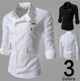 Wholesale Breast Wrap - Mens Shirts Hot Mens Comfortable and Wrap Casual Shirts Hot Male Long Sleeve and Slim Business Shirts