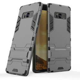 Wholesale Hybrid Rugged Rubber Silicone - For Galaxy Note 8 Silicone Robot Armor Protector Hybrid Rugged Rubber Cover For Samsung Galaxy Note 8 Kickstand Case