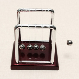 Wholesale Steel Balance Balls - Wholesale-Newest !! Top Selling Early Fun Development Educational Desk Toy Gift Newtons Cradle Steel Balance Ball Physics Science Pendulum