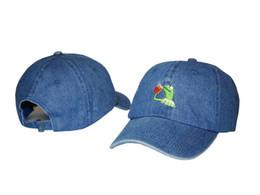 Wholesale Business Hats - free shipping KERMIT NONE OF BUSINESS UNSTRUCTURED DAD HAT CAP FROG TEA LEBRON JAMES NEW casquette kenye west ye bear cap men women hat