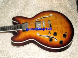 Wholesale Guitar 335 Sunburst - New Arrival Left Handed Jazz Guitar Custom Shop 335 Electric Guitar HIgh Free Shipping HOT Guitar